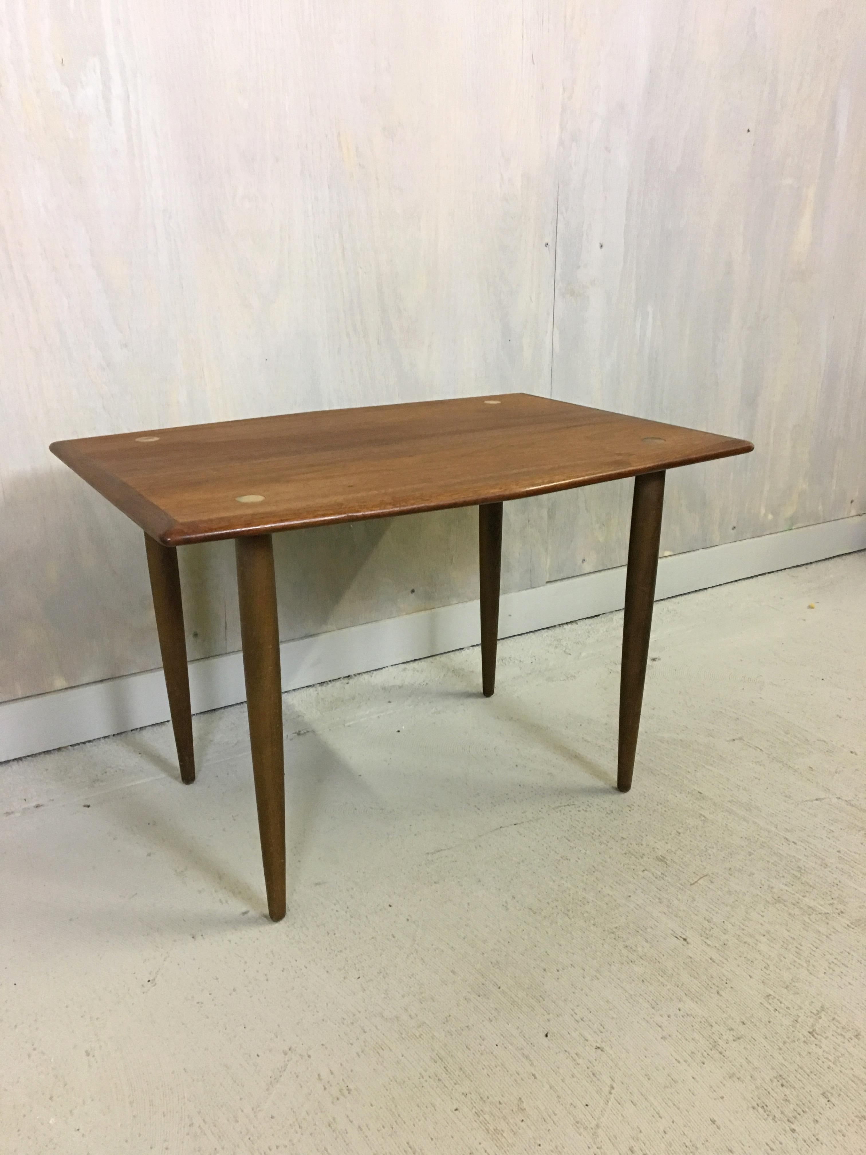 Stunning Refinished Swedish Modern Side Table By DUX Circa 1960u0027s. This  Teak Table Has Brass