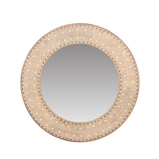 Round Zellige Bone Inlay Mirror For Sale