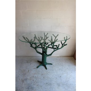 French Green Resin Tree Sculpture Table Preview