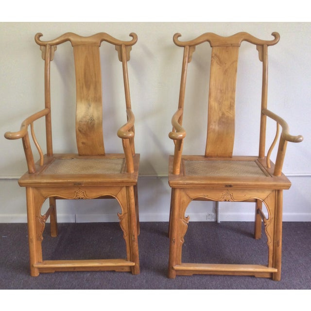 Pair of Antique Chinese Armchairs For Sale - Image 13 of 13