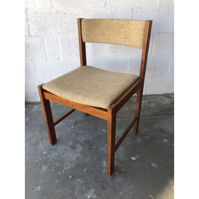 Vintage Mid Century Danish Modern Style Dining Chairs (Set of Four) For Sale - Image 11 of 13