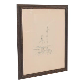 French Embossed Original Etching of the Search by Artist Alberto Giacometti 1960s For Sale