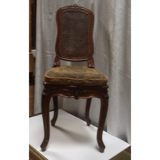 18th C. Original French Aubusson Tapestry Side Chair For Sale - Image 10 of 11