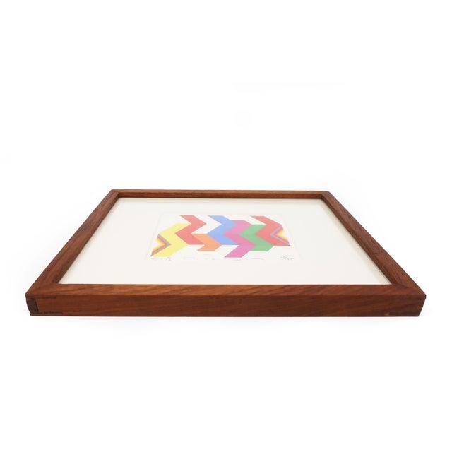 "Framed Fumio Tomita ""Walking Star"" Serigraph For Sale - Image 4 of 11"