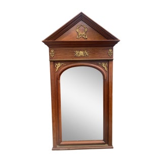 Late 19th Century French Empire Style Mirror For Sale