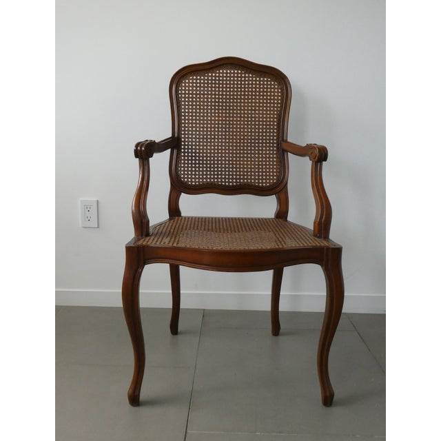 Reproduction Louis XV Walnut Caned Dining Chairs - Set of 8 - Image 4 of 10