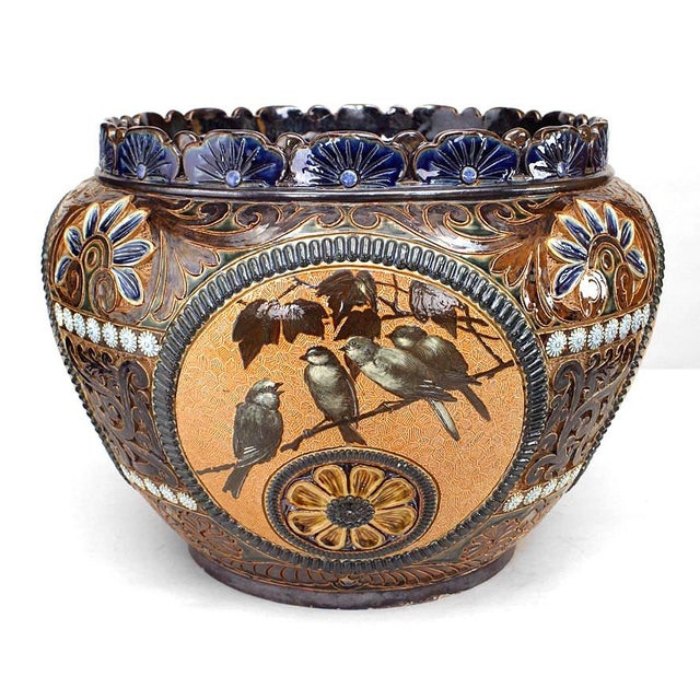 Arts and Crafts Royal Doulton Lambeth Pot For Sale - Image 4 of 8