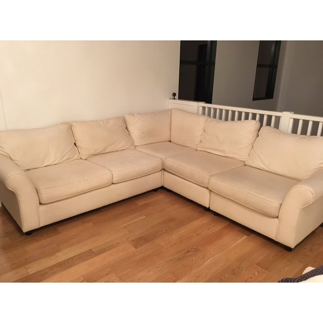 Pottery Barn L-Shape Upholstered Sectional - Image 3 of 5