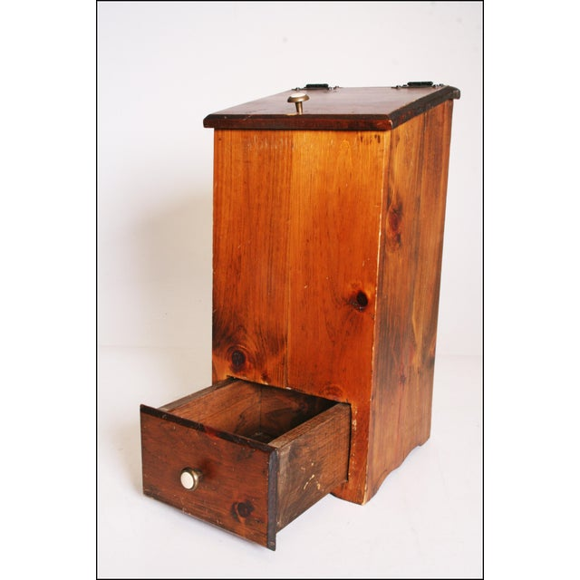 Vintage Rustic Wood Taters & Onions Bin - Image 3 of 11