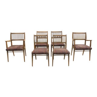 Set of 6 Modernist Dining Chairs by John O. Van Koert for Drexel's Profile Series For Sale