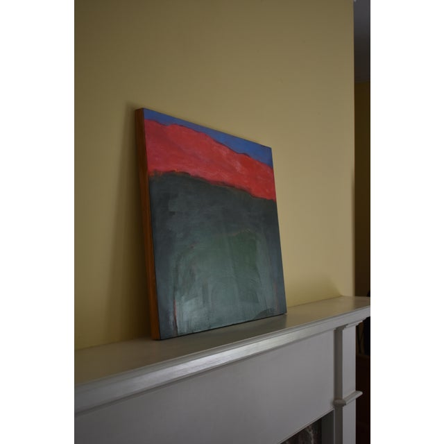 """2010s Abstract Painting, """"Field Rising at Sunset"""" by Stephen Remick For Sale In Providence - Image 6 of 9"""