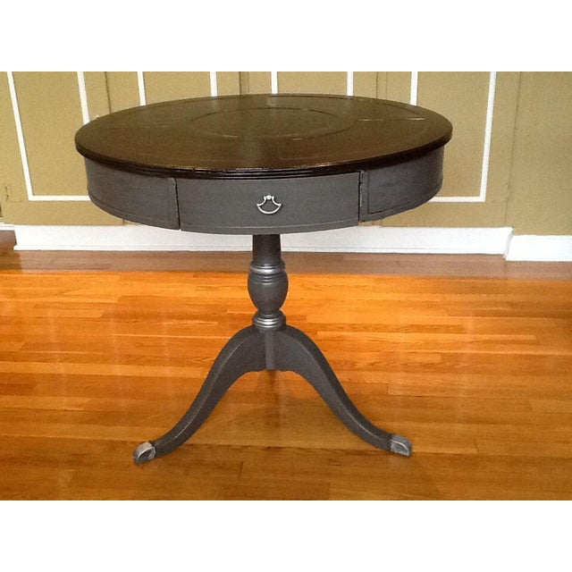 Upcycled Vintage Drum Table For Sale - Image 5 of 11