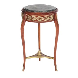 1960s Louis XV Mahogany Side Table For Sale