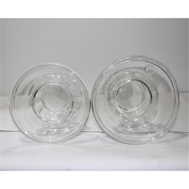 Vintage Blenko Glass Candle Holders - a Set of 2 For Sale - Image 11 of 13