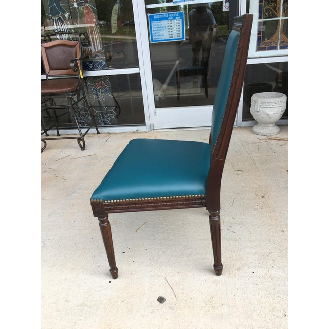 Massoud Regency Style Leather Accent Chair - Image 6 of 10