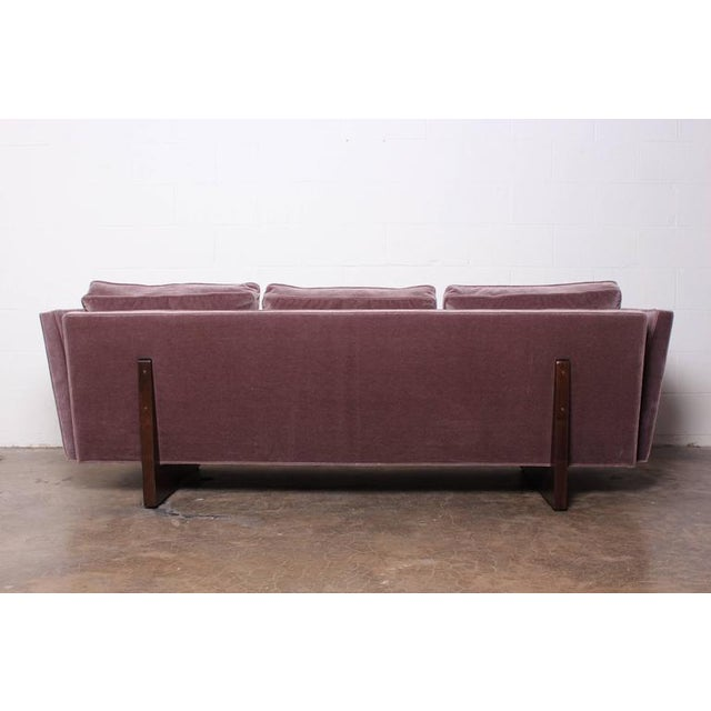 Mohair Split Arm Sofa by Edward Wormley for Dunbar For Sale - Image 7 of 10