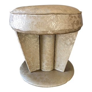 Vintage Hollywood Regency Art Deco Vanity Stool For Sale