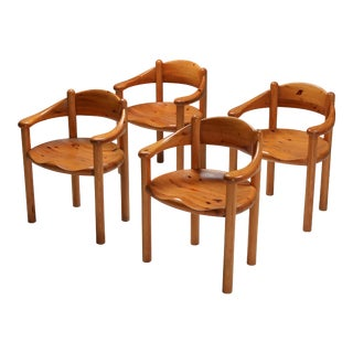 1970s Rainer Daumiller Pine Armchairs - Set of 4 For Sale
