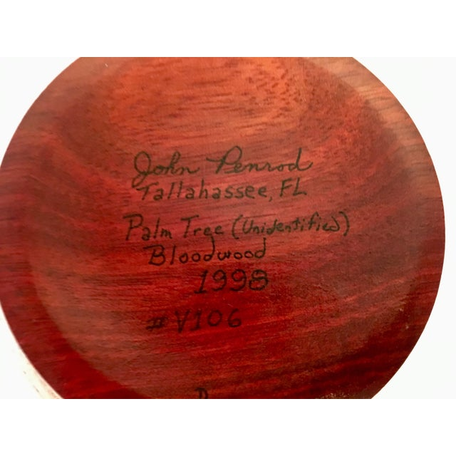 1991 Boho Chic Large Artisan Turned Bloodwood Palm Beehive Vase by John Penrod (Signed) For Sale - Image 10 of 13
