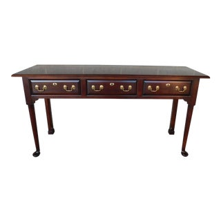"""Statton Old Towne Cherry Georgian Style Console Table 60""""w For Sale"""