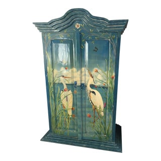 Vintage Original Art Hand Painted Armoire
