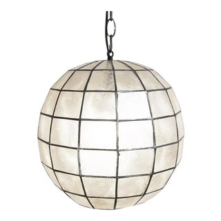Capiz Shell Globe Lantern 12 For Sale