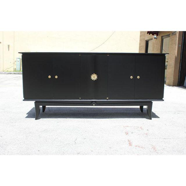 Beautiful Vintage French Art Deco Ebonized Sideboard / Buffet 1940s - Image 2 of 11