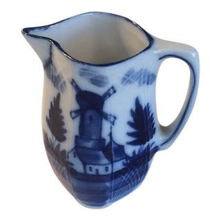 Vintage Delft Flow Ware Creamer For Sale