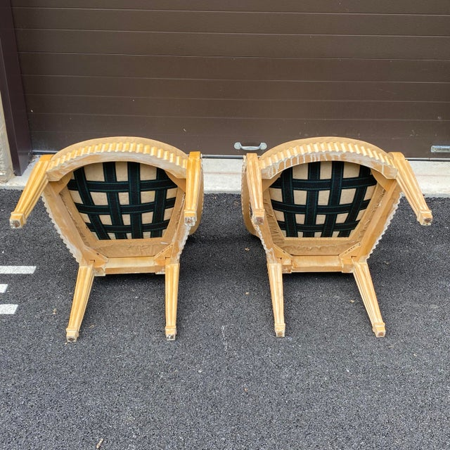 1980s John Hutton for Donghia Style Soleil Armchair - a Pair For Sale - Image 12 of 13