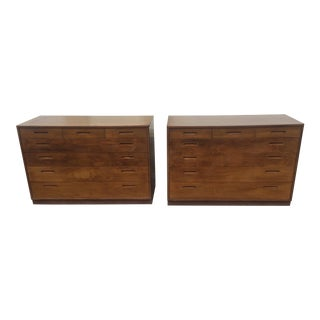 Mid -Century Modern Founders Walnut Dressers -A Pair For Sale
