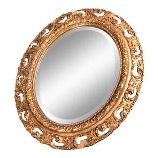 Antique Gold Wall Mirror For Sale