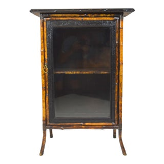 Late 19th-Century Bamboo Cabinet With Door For Sale