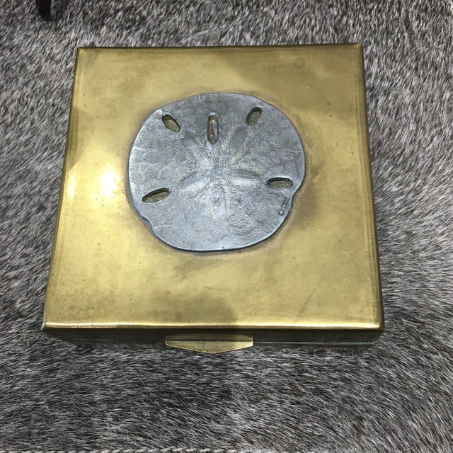 Vintage Brass Sand Dollar Box - Image 3 of 11