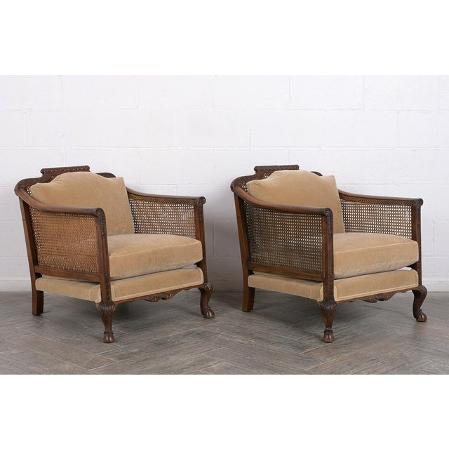 Brown Set of French 19th Century Traditional Louis XIV Bergere For Sale - Image 8 of 8
