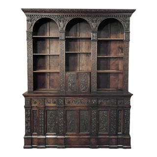 19th Century Renaissance Bookcase For Sale