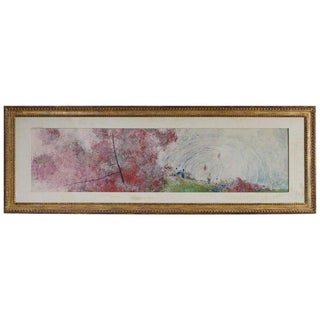 Chen Chi - Summertime, Watercolor 1958, Signed and Stamped For Sale