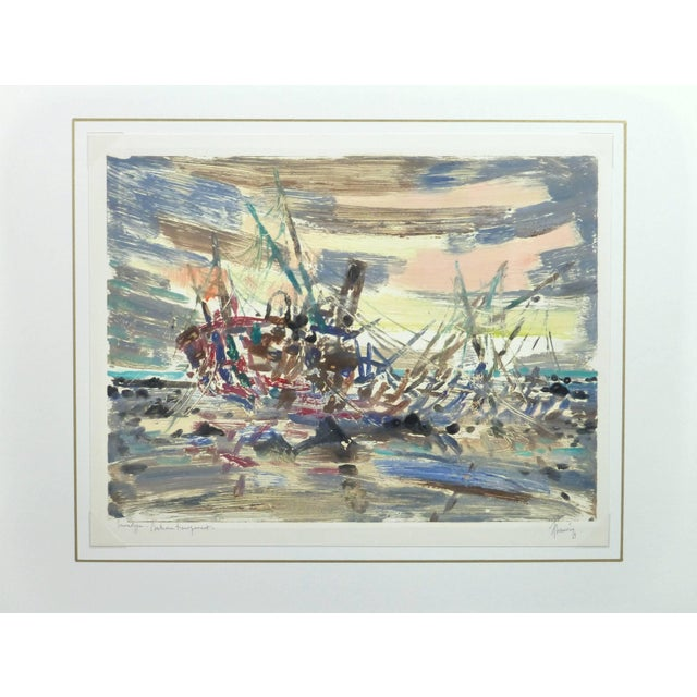 Chauvin, Vintage French Monotype - Bateau Transparent For Sale - Image 4 of 5