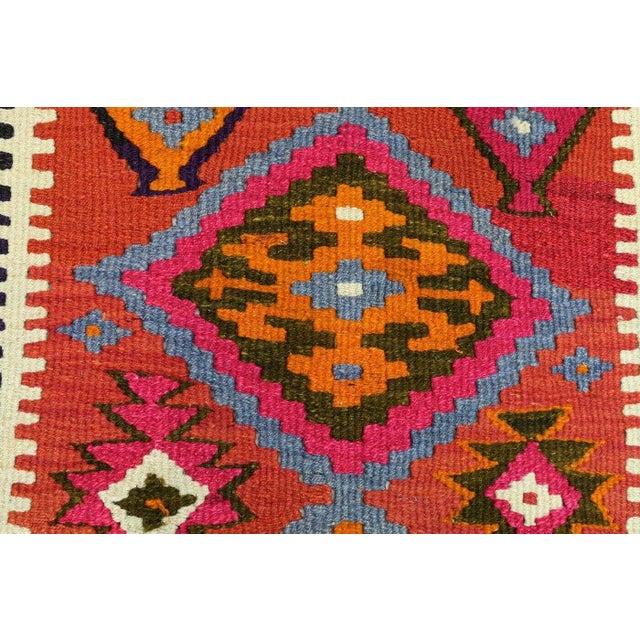 Textile Vintage Turkish Kilim Runner Rug For Sale - Image 7 of 12