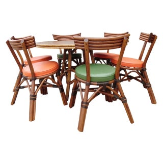 Paul Frankl Style Bamboo Dining Set