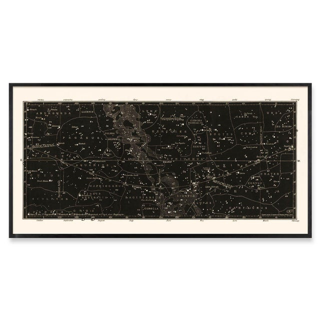 Not Yet Made - Made To Order Antique Black Star Map Large Constellation Print For Sale - Image 5 of 5