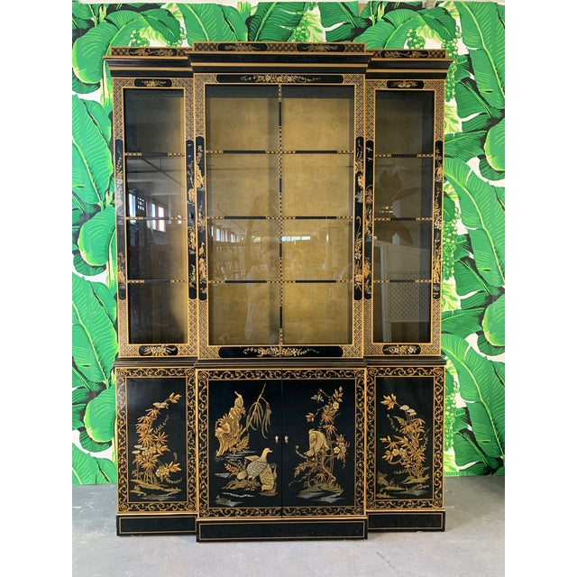 Asian Chinoiserie China Cabinet by Drexel For Sale - Image 13 of 13