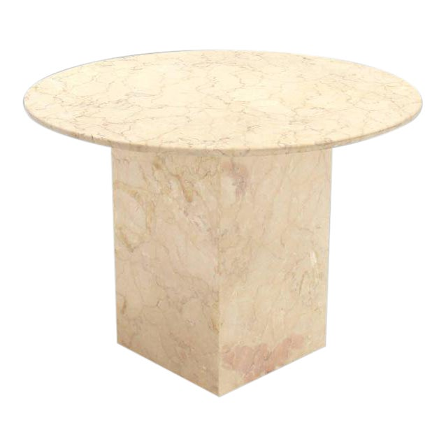 Vintage Mid Century Marble Base and Top Gueridon Center Table For Sale