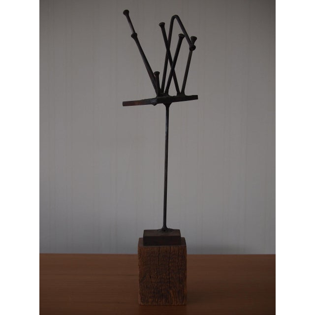 DESCRIPTION: -Excellent abstract sculpture by renowned modern artist William F. Sellers (1929-2019; American, New York),...
