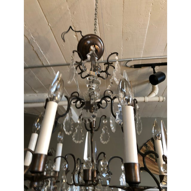 Large Vintage Marie Therese Multi Tier Chandelier For Sale - Image 9 of 11