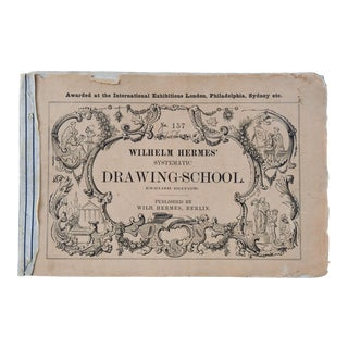 Wilhelm Hermes Drawing School Geometric Lithographs Distressed Book For Sale