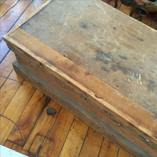 Rustic Pine Wood Sea Chest - Image 11 of 11