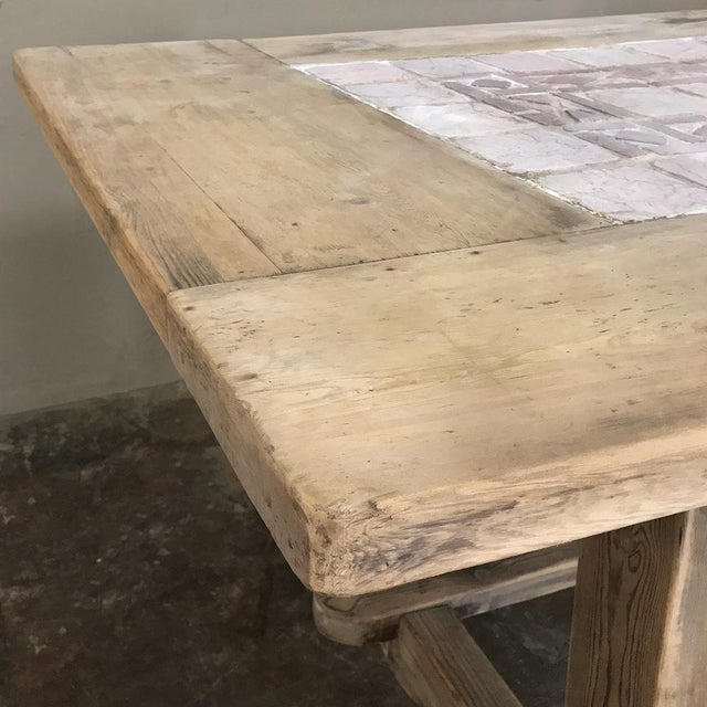 19th Century Spanish Table With Marble Tiles For Sale In Dallas - Image 6 of 12
