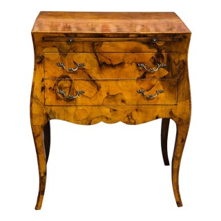 Italian Oyster Wood Commode For Sale