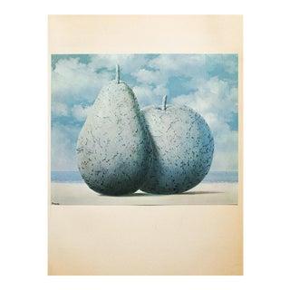 """1972 Rene Magritte, """"Souvenir De Voyage"""" Original Photogravure For Sale"""