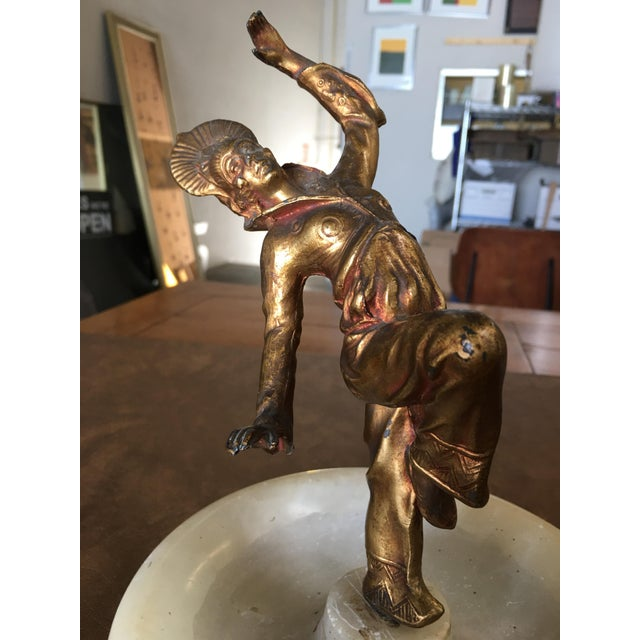 Art Deco Art Deco Ashtray/Ring Tray With Female Harlequin Dancer Statue by Frankart For Sale - Image 3 of 8